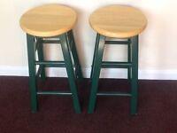 Pair of retro kitchen stools