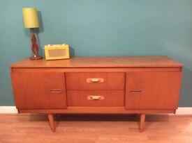 vintage mid century teak sideboard retro 1960 1970s
