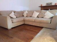 Cream Corner Sofa & Large Cuddle Chair