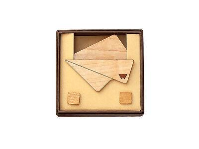 Pochette in legno di ciliegio e gemelli con base in ottone accessori moda uomo