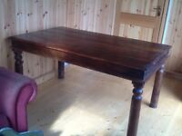 Indian rosewood dining table and four chairs