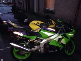 Zx6r and cbr600 f