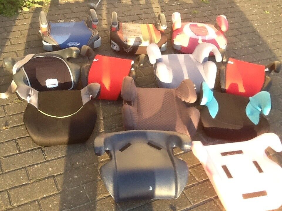 Car booster seats for 8/9 yr olds upto 12yrs(25kg upto 36kg)several available-£5,£8 and £10each