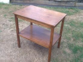 Vintage 2 Tier Oak Table