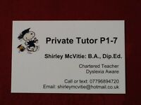 Private Tutoring - Primary