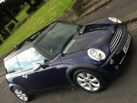 2005 MINI COOPER 1.6 WITH LEATHER IN A RARE COLOUR COMBO,, STUNNING CAR!!!