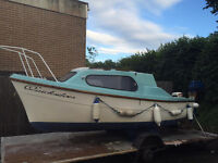 Sea king maxi/mini cruiser 16ft boat with 2 engines in good condition
