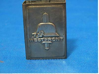 GERMAN WWII westfront MATCHBOX COVER WITH MAKERS MARK-trench art