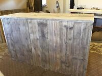 Hand Made Chunky Rustic Shop Counter Clear Satin Varnish oak finishes available