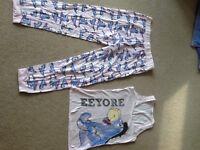 Ladies Eeyore pyjama set - size 8-10