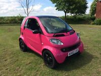 2002 SMART CITY COUPE 600 CC 6 SPEED AUTO WRAPPED PINK £995