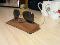 Ray Ban Sun Glasses Aviator Style with bausch lomb lenses