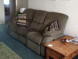 3 Seater G Plan Fabric Recliner Sofa