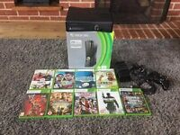 Xbox 360 with box and games