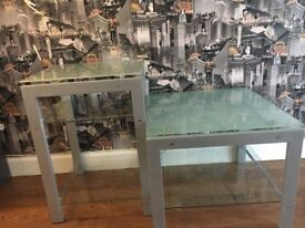Tables- glass x2