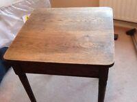 Small oak table
