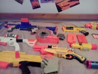 Nerf guns galore! Perfect for kids' outdoor party