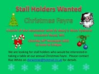 Stall Holders wanted for Christmas fayre