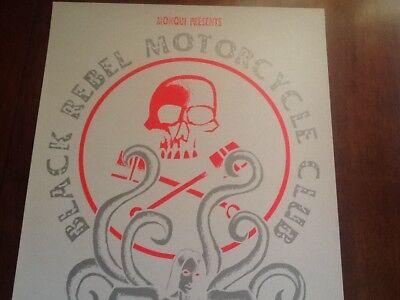 Black Rebel Motorcycle Club poster Justin Hampton '05 Seattle Glow in Dark BRMC