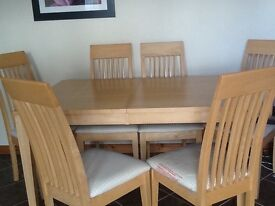 Maple Table with Matching Chairs and Sideboard/Dresser