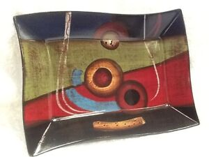 New Picasso Collection Hand Painted Ceramic Aboriginal Dish Plate, Ornament