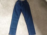 Girls new without tags M&Co adjustable waist dark blue stretch jeans