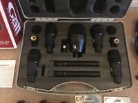 Set of 7 Drum Microphones - Like New!