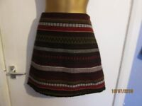 BROWN PATTERNED SHORT SKIRT SIZE 12 BY GEORGE BRAND NEW WITH TAGS