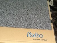 Carpet tiles - light grey - forbo