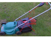 Bosch rotary 320c electric lawnmower collection compartment missing
