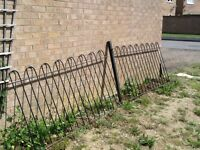 2 metal railings and 1 post