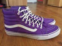 Vans high top trainers purple