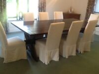 Large Bespoke Dining Table and 8 Chairs