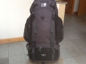 New/unused Karrimor Multiday 65(litre capacity)rucksack for camping,weekend,hand luggage size