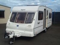 2001 Bailey pageant Bordeaux fixed bed 4 berth with fitted mover