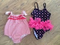 Girls dressing gown, swimsuit and under dress nappy knickers age 12 months