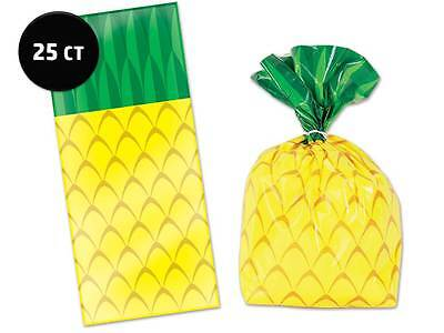 Pineapple Cello Bags [25ct] Hawaiian Luau Beach Pool Party Supplies Treat Loot