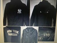 MAKE ME AN OFFER ! Black hooded coats almost new Next & Yankees lrg boys/sml mens £20 & other items