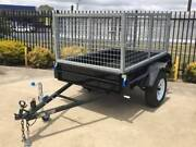 7x4 Rolled Checker Plate CAGED TRAILER Adelaide Region Preview