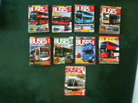 43 Back Issues/Copies of Buses Magazine 2007-2015