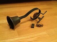 Brass servants bell as shown in picture. A pull handle will have to be acquired from elsewhere.