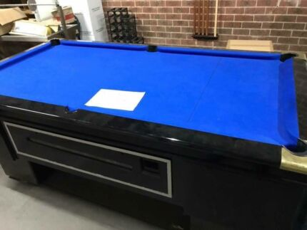 EX Hotel Pub Ft Electronic Coin Op Pool Table Jim Beam Cloth - Electronic pool table