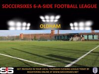 BRAND NEW 6ASIDE LEAGUE IN OLDHAM (CREATE YOUR OWN TEAM AND JOIN UP)