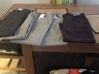 """5 pairs of men's chino trousers never been worn waist 32"""""""