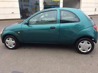 2001 REG FORD KA 1.2 PETROL, DRIVE PEFECT, AND 1 YEAR MOT, LOW INSURANCE,