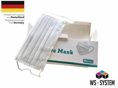50 x Medizinische Schutzmaske Mundschutz Nasenschutz Maske Einwegmaske OP Maske