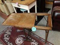 Vintage oak folding slide top table Copley Mill Low Cost Moves 2nd Hand Furniture STALYBRIDGE SK15