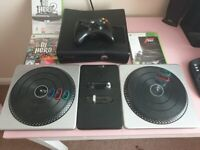 Used, Xbox 360 Slim 250G HDD Bundle DJ Hero and More for sale  Woking, Surrey