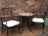garden table and chairs for sale in leeds. garden furniture bistro set two chairs table and cushions as new for sale in leeds n