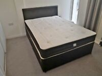🎆💖🎆SAME DAY FAST DELIVERY🎆💖🎆DOUBLE DIVAN BED BASE INCLUDING MATTRESS + FREE DELIVERY IN LONDON